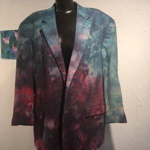 Other - Men's Tie Dye Blazer 48R Nordstrom Purple Blue